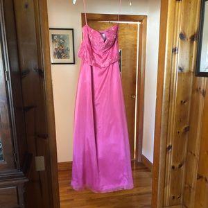 Ball gown bridesmaids dress